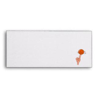 vuelta del baloncesto en gráfico del dedo sobres
