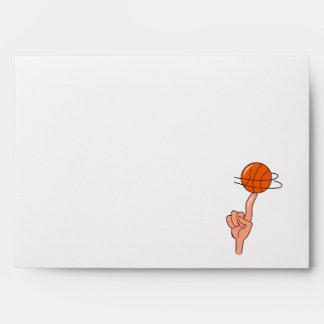 vuelta del baloncesto en gráfico del dedo sobre