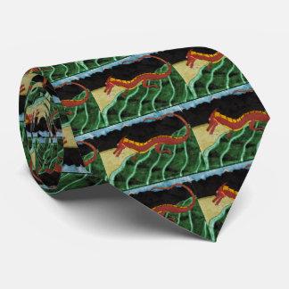 Vuelta del dragón corbata personalizada