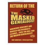 Vuelta del Genealogist enmascarado Tarjetón