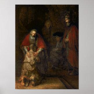 Vuelta del hijo despilfarrador c 1668-69 posters