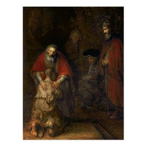 Vuelta del hijo despilfarrador, c.1668-69 postales