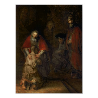 Vuelta del hijo despilfarrador, c.1668-69 póster
