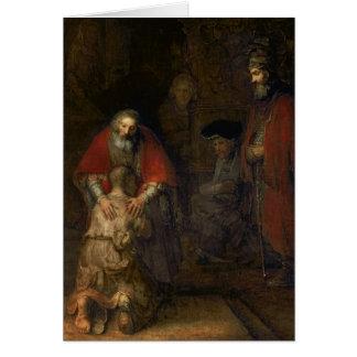 Vuelta del hijo despilfarrador, c.1668-69 tarjeta de felicitación