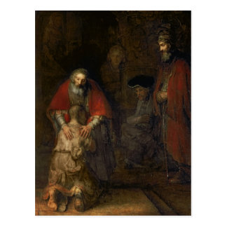 Vuelta del hijo despilfarrador, c.1668-69 postal