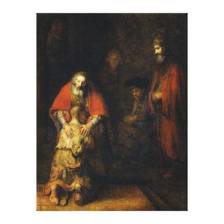 Vuelta del hijo despilfarrador de Rembrandt Impresion En Lona