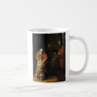 Vuelta del hijo despilfarrador de Rembrandt Taza Clásica