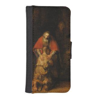 Vuelta del hijo despilfarrador de Rembrandt Van Fundas Billetera Para Teléfono