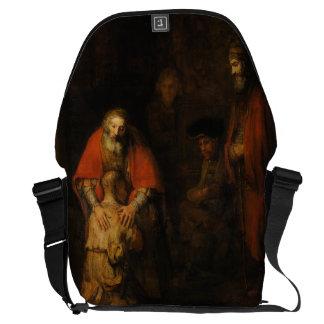Vuelta del hijo despilfarrador de Rembrandt Van Ri Bolsas Messenger
