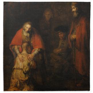 Vuelta del hijo despilfarrador de Rembrandt Van Ri Servilletas