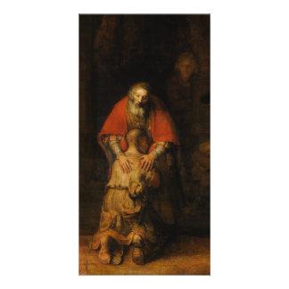Vuelta del hijo despilfarrador de Rembrandt Van Ri Tarjetas Fotograficas Personalizadas