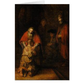 Vuelta del hijo despilfarrador de Rembrandt Van Tarjeta De Felicitación
