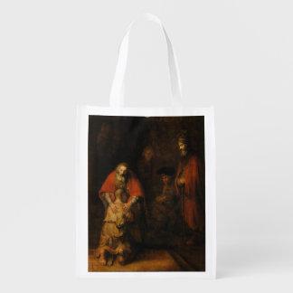 Vuelta del hijo despilfarrador de Rembrandt Van Bolsas Reutilizables