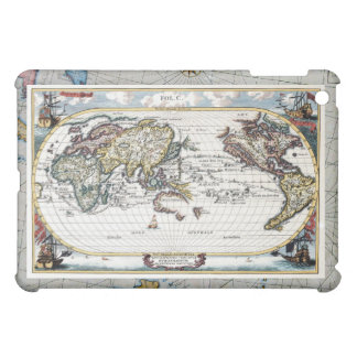 Vuelta del mapa del mundo del siglo XVIII