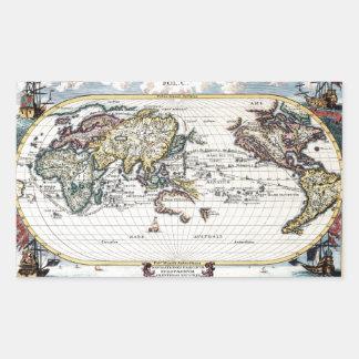 Vuelta del mapa del mundo del siglo XVIII Rectangular Altavoz
