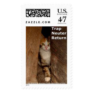 Vuelta del neutro de la trampa sello postal
