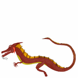 Vuelta del Pin de acrílico del dragón Pin Fotoescultura