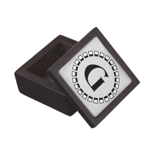 Vuelta del siglo, monograma G del vintage Caja De Joyas De Calidad