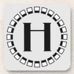 Vuelta del siglo, monograma H del vintage Posavasos