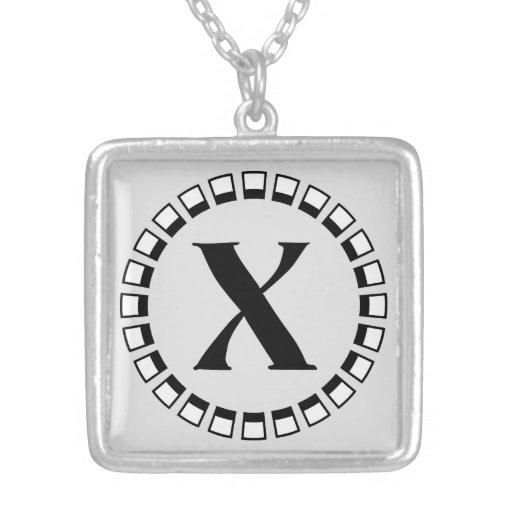 Vuelta del siglo, monograma X del vintage Joyeria Personalizada
