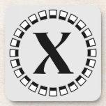 Vuelta del siglo, monograma X del vintage Posavaso