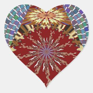 Vuelta del sorteo de CHAKRA+Corazón de los Calcomania De Corazon
