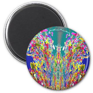 Vuelta del sorteo del fiesta+decoraciones del imán redondo 5 cm