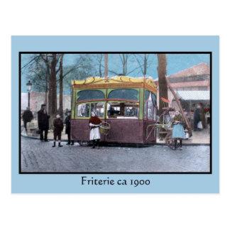 vuelta del vintage del friterie del siglo postal