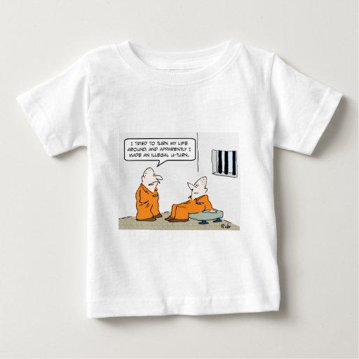 vuelta ilegal de la prisión u playera de bebé