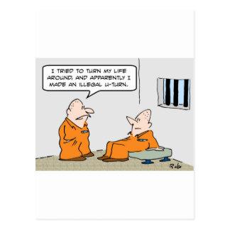 vuelta ilegal de la prisión u tarjetas postales