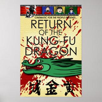 """""""Vuelta Mini-Poster del dragón de Kung-Fu"""""""