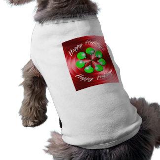 Vuelta moderna del día de fiesta del navidad playera sin mangas para perro