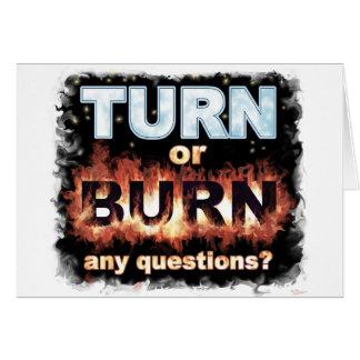 Vuelta o quemadura tarjetas