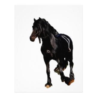 Vuelta súbita de los caballos membrete a diseño