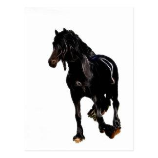 Vuelta súbita de los caballos postal