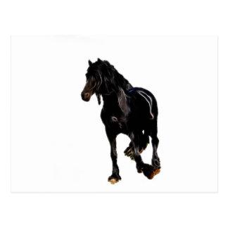 Vuelta súbita de los caballos tarjeta postal