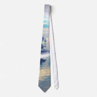 Vuelta submarina para arriba corbata personalizada