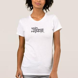 Vuelta, sudor, repetición tshirts