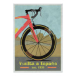 Vuelta una bici de España Póster