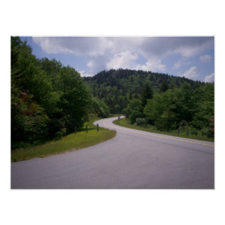 Vueltas azules de la ruta verde de Ridge Impresiones