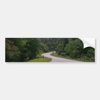 Vueltas azules de la ruta verde de Ridge Pegatina Para Auto