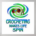 Vueltas Crocheting Poster