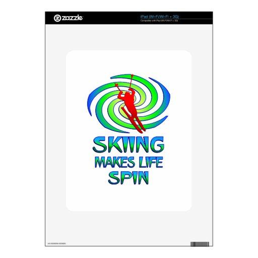 Vueltas de esquí iPad skins