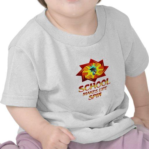 Vueltas de la escuela camisetas
