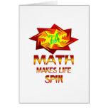 Vueltas de la matemáticas tarjeton