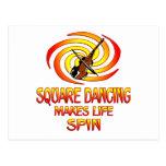 Vueltas del baile cuadrado tarjeta postal
