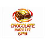 Vueltas del chocolate tarjetas postales