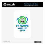 Vueltas del patinaje de hielo skins para iPod touch 4G