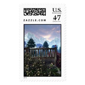 Vuelva a la naturaleza timbre postal