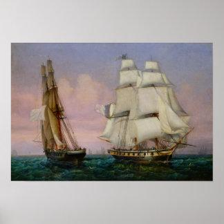 Vuelva de Elba, c.1852 Póster